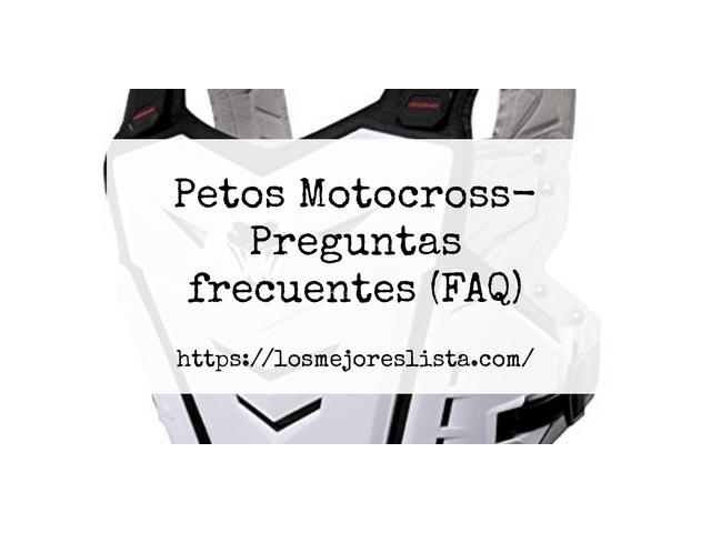 Las 10 mejores Petos Motocross  en 2021