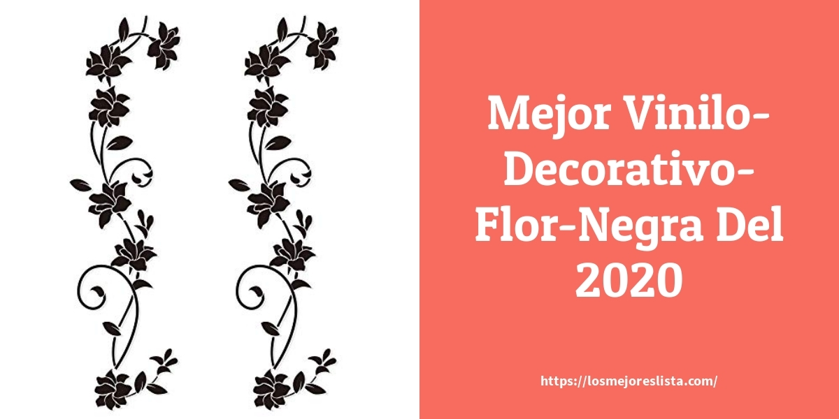 Las mejores 10 vinilo decorativo flor negra de 2021