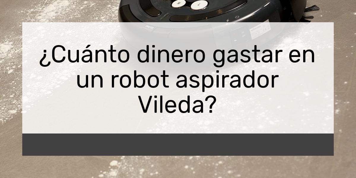 Cuánto dinero gastar en un robot aspirador Vileda