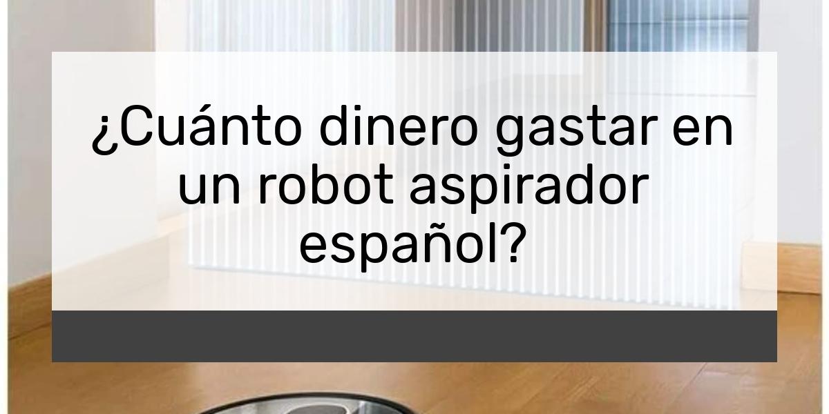 Cuánto dinero gastar en un robot aspirador español