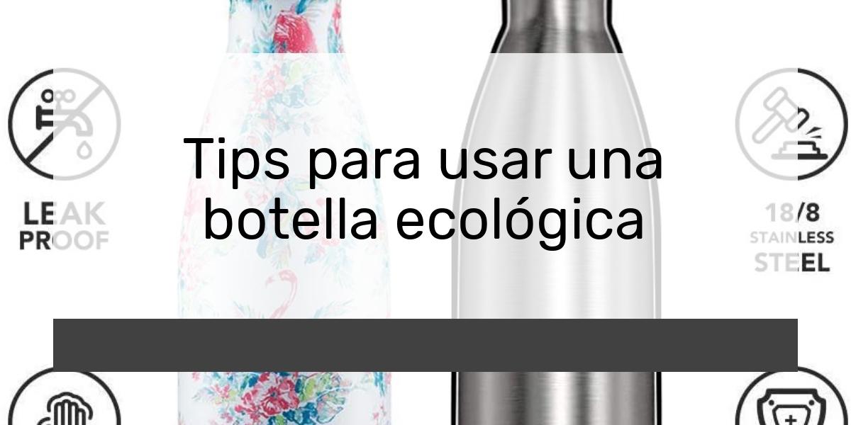 Tips para usar una botella ecológica