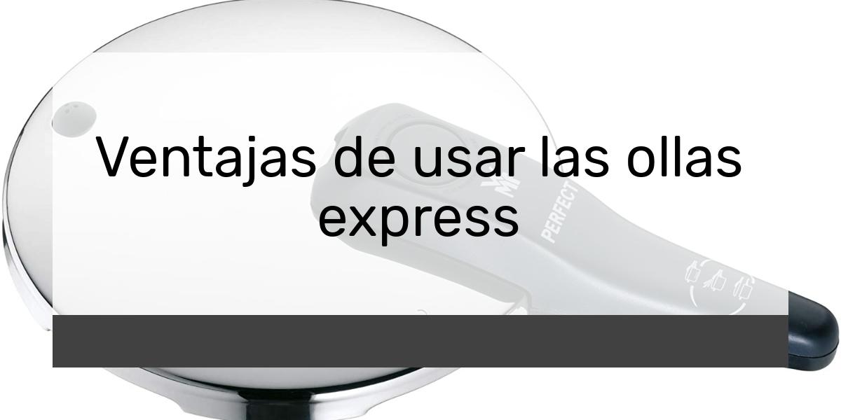 Ventajas de usar las ollas express