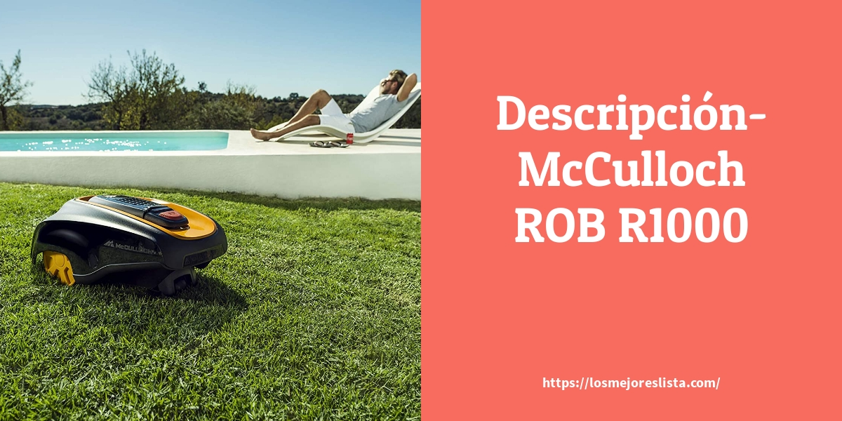 Descripción McCulloch ROB R1000