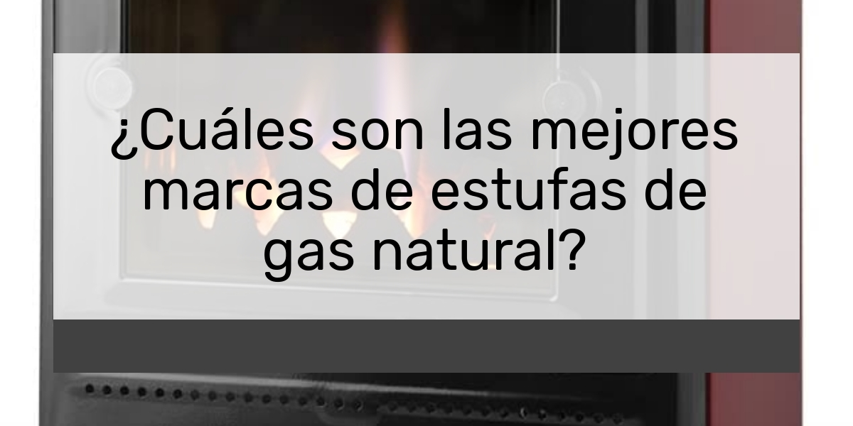 Cuáles son las mejores marcas de estufas de gas natural