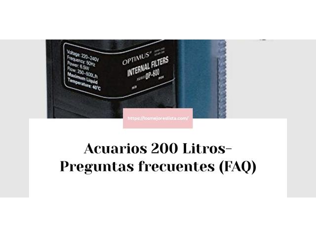 Los Mejores Acuarios 200 Litros – Guía de compra, Opiniones y Comparativa del 2021 (España)