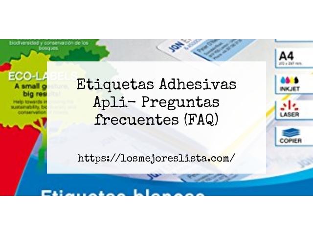 Los Mejores Etiquetas Adhesivas Apli – Guía de compra, Opiniones y Comparativa del 2021