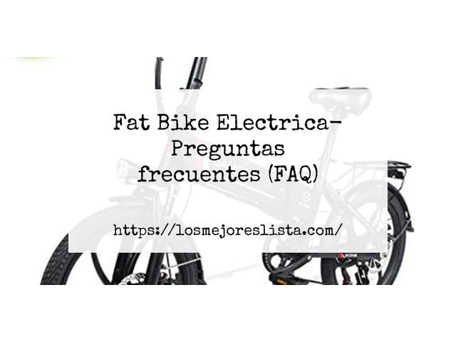 Los Mejores Fat Bike Electrica – Guía de compra, Opiniones y Comparativa del 2021 (España)