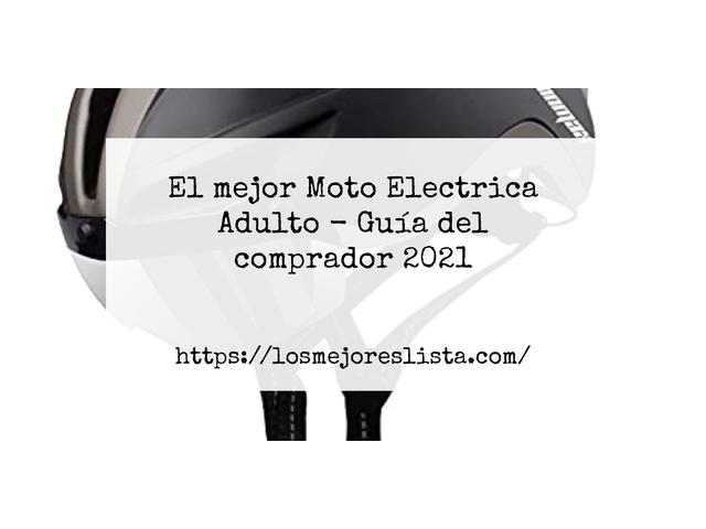 Los Mejores Moto Electrica Adulto – Guía de compra, Opiniones y Comparativa del 2021 (España)