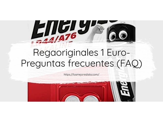 Los Mejores Regaoriginales 1 Euro – Guía de compra, Opiniones y Comparativa del 2021 (España)