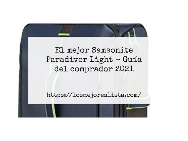 Los Mejores Samsonite Paradiver Light – Guía de compra, Opiniones y Comparativa del 2021