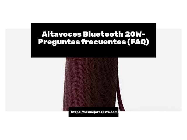 Los Mejores Altavoces Bluetooth 20W – Guía de compra, Opiniones y Comparativa del 2021 (España)