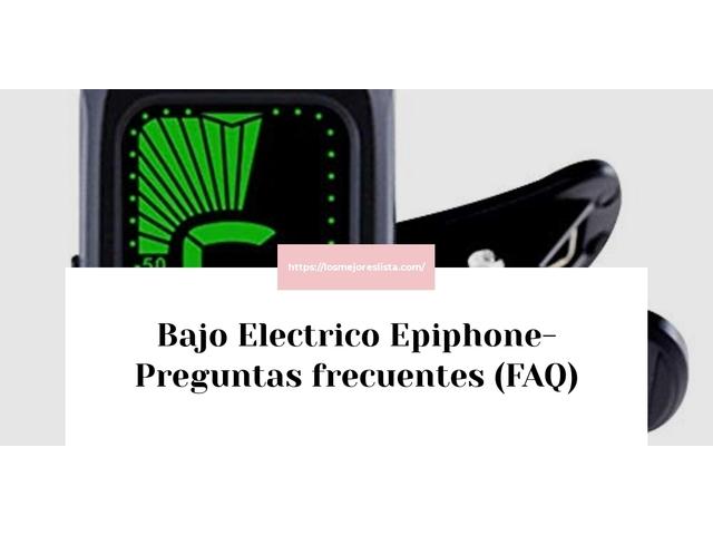 Los Mejores Bajo Electrico Epiphone – Guía de compra, Opiniones y Comparativa del 2021 (España)