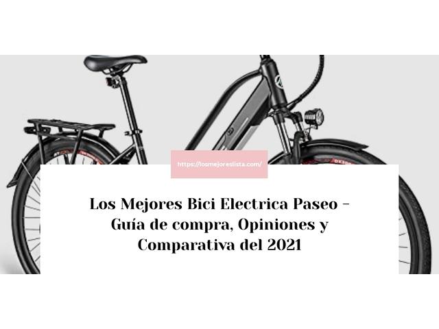 Los Mejores Bici Electrica Paseo – Guía de compra, Opiniones y Comparativa del 2021 (España)