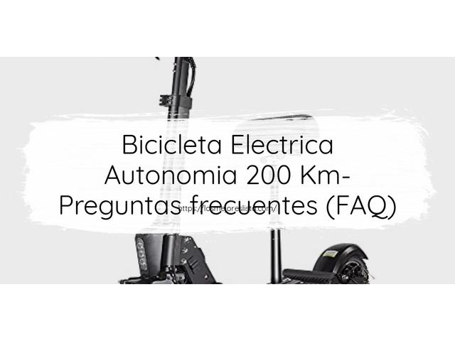 Los Mejores Bicicleta Electrica Autonomia 200 Km – Guía de compra, Opiniones y Comparativa del 2021 (España)