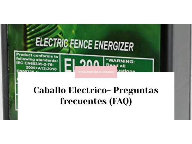 Los Mejores Caballo Electrico – Guía de compra, Opiniones y Comparativa del 2021 (España)