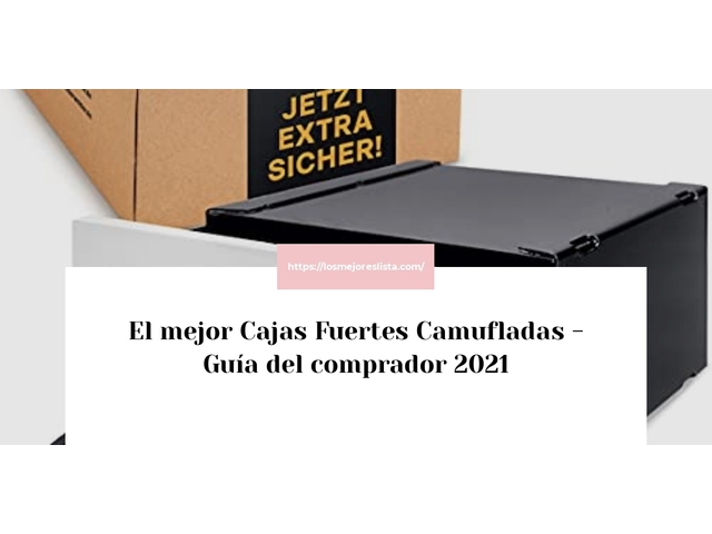 Los Mejores Cajas Fuertes Camufladas – Guía de compra, Opiniones y Comparativa del 2021 (España)