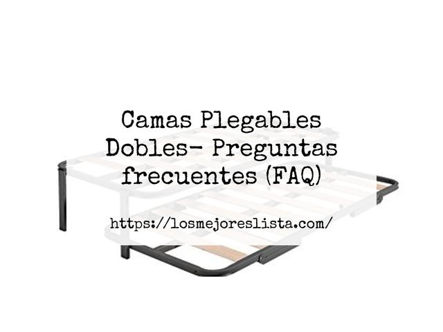 Los Mejores Camas Plegables Dobles – Guía de compra, Opiniones y Comparativa del 2021 (España)