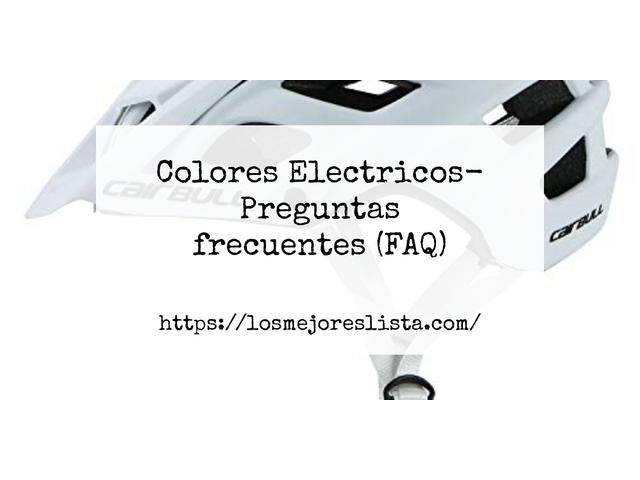 Los Mejores Colores Electricos – Guía de compra, Opiniones y Comparativa del 2021 (España)