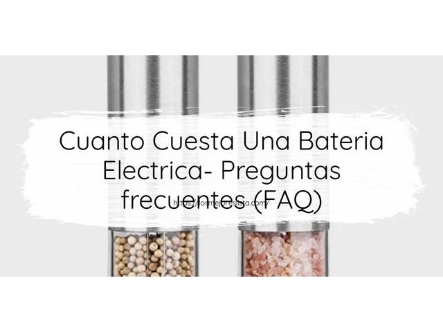 Los Mejores Cuanto Cuesta Una Bateria Electrica – Guía de compra, Opiniones y Comparativa del 2021 (España)