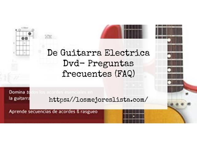 Los Mejores De Guitarra Electrica Dvd – Guía de compra, Opiniones y Comparativa del 2021 (España)