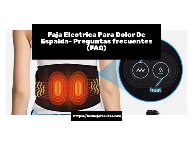 Los Mejores Faja Electrica Para Dolor De Espalda – Guía de compra, Opiniones y Comparativa del 2021 (España)