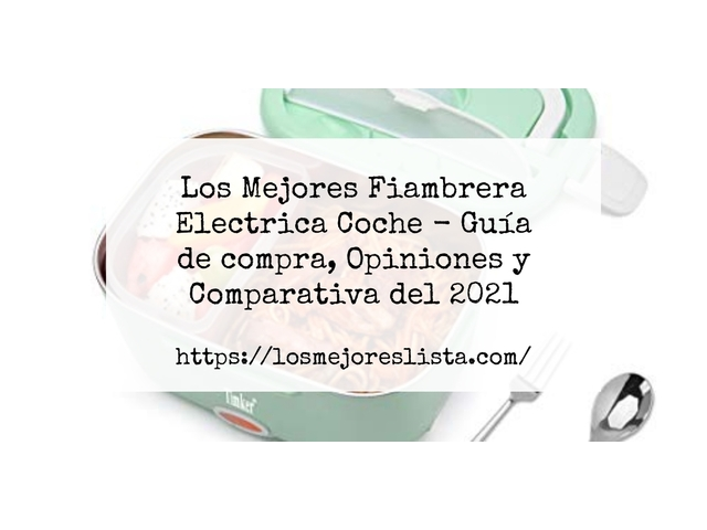 Los Mejores Fiambrera Electrica Coche – Guía de compra, Opiniones y Comparativa del 2021 (España)