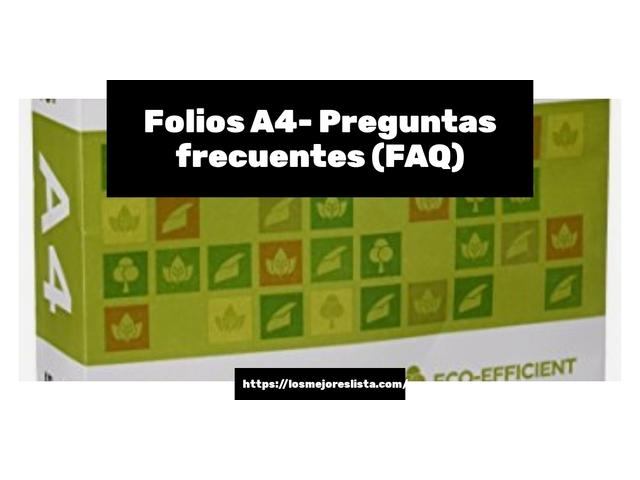 Los Mejores Folios A4 – Guía de compra, Opiniones y Comparativa del 2021 (España)