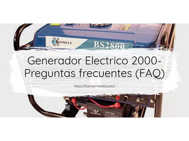 Los Mejores Generador Electrico 2000 – Guía de compra, Opiniones y Comparativa del 2021 (España)