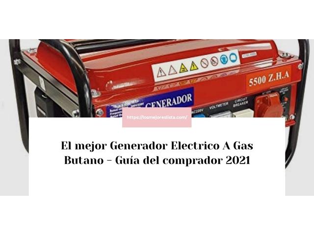 Los Mejores Generador Electrico A Gas Butano – Guía de compra, Opiniones y Comparativa del 2021 (España)