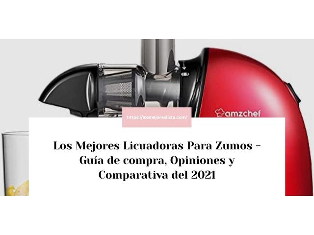 Los Mejores Licuadoras Para Zumos – Guía de compra, Opiniones y Comparativa del 2021 (España)