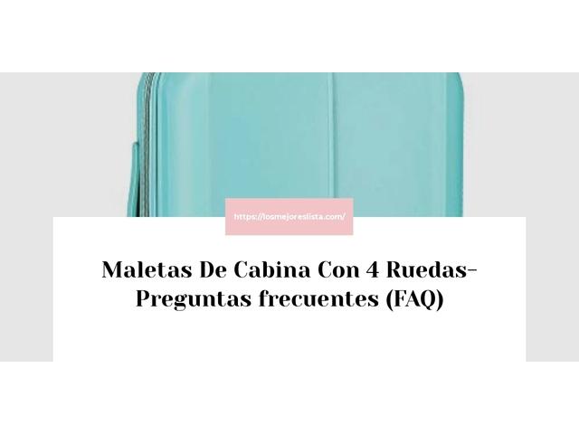 Los Mejores Maletas De Cabina Con 4 Ruedas – Guía de compra, Opiniones y Comparativa del 2021 (España)