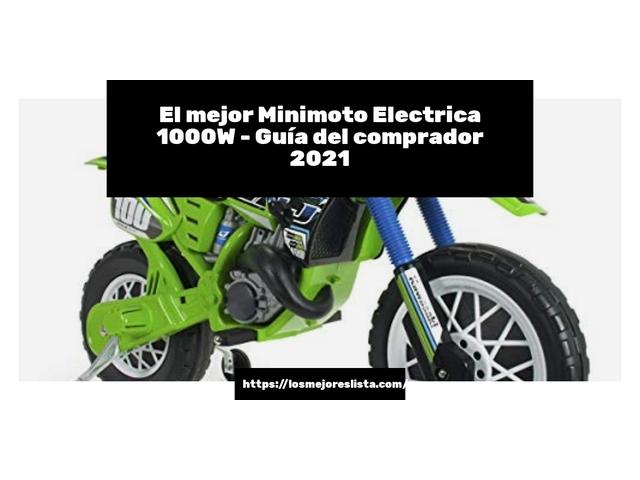 Los Mejores Minimoto Electrica 1000W – Guía de compra, Opiniones y Comparativa del 2021 (España)