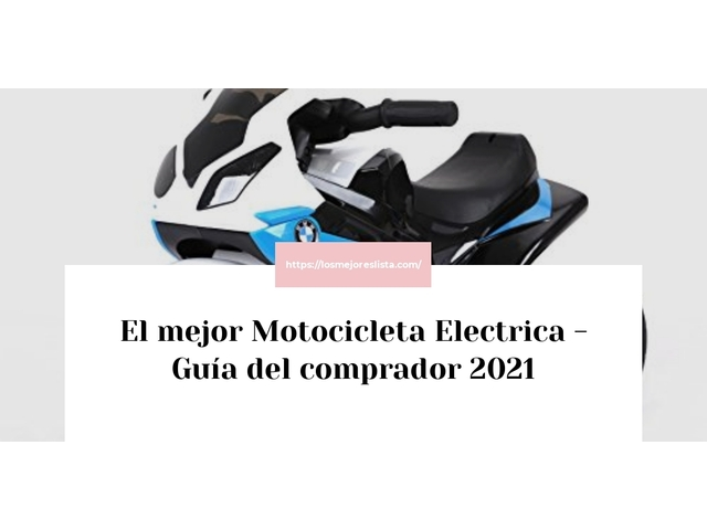 Los Mejores Motocicleta Electrica – Guía de compra, Opiniones y Comparativa del 2021 (España)