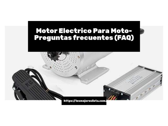 Los Mejores Motor Electrico Para Moto – Guía de compra, Opiniones y Comparativa del 2021 (España)