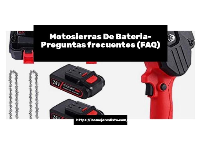 Los Mejores Motosierras De Bateria – Guía de compra, Opiniones y Comparativa del 2021 (España)