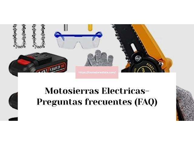 Los Mejores Motosierras Electricas – Guía de compra, Opiniones y Comparativa del 2021 (España)