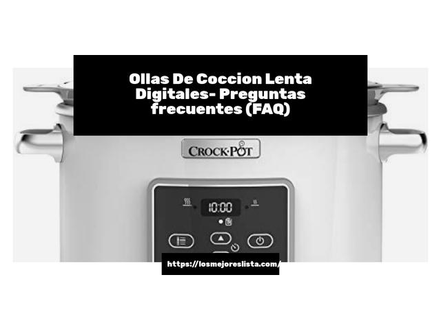Los Mejores Ollas De Coccion Lenta Digitales – Guía de compra, Opiniones y Comparativa del 2021 (España)