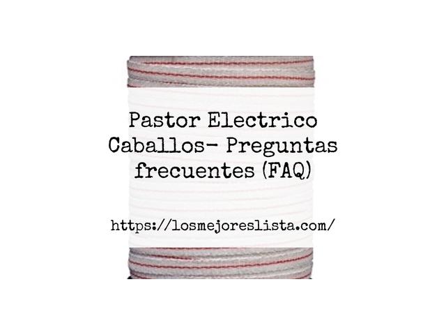 Los Mejores Pastor Electrico Caballos – Guía de compra, Opiniones y Comparativa del 2021 (España)