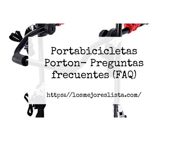 Los Mejores Portabicicletas Porton – Guía de compra, Opiniones y Comparativa del 2021 (España)