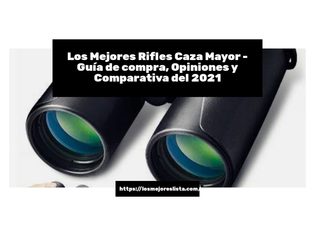 Los Mejores Rifles Caza Mayor – Guía de compra, Opiniones y Comparativa del 2021 (España)