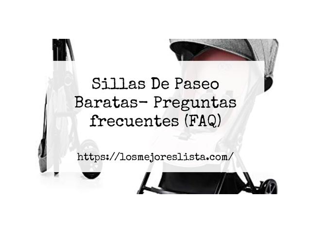 Los Mejores Sillas De Paseo Baratas – Guía de compra, Opiniones y Comparativa del 2021 (España)