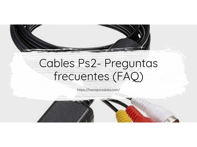 Los Mejores Cables Ps2 – Guía de compra, Opiniones y Comparativa del 2021 (España)