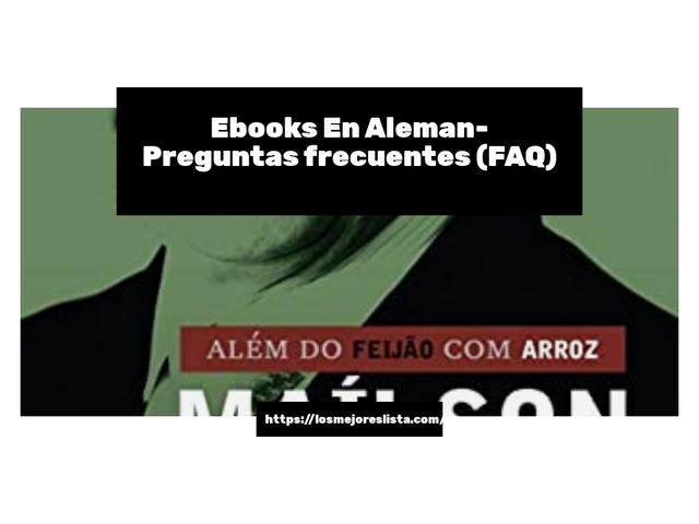 Los Mejores Ebooks En Aleman – Guía de compra, Opiniones y Comparativa del 2021 (España)