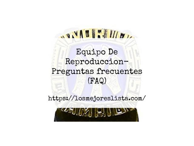 Los Mejores Equipo De Reproduccion – Guía de compra, Opiniones y Comparativa del 2021 (España)