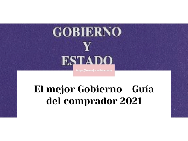 Los Mejores Gobierno – Guía de compra, Opiniones y Comparativa del 2021 (España)