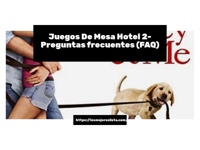 Los Mejores Juegos De Mesa Hotel 2 – Guía de compra, Opiniones y Comparativa del 2021 (España)