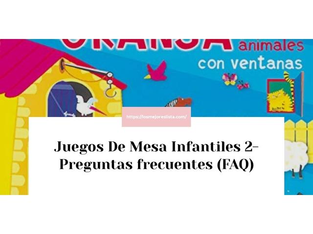 Los Mejores Juegos De Mesa Infantiles 2 – Guía de compra, Opiniones y Comparativa del 2021 (España)