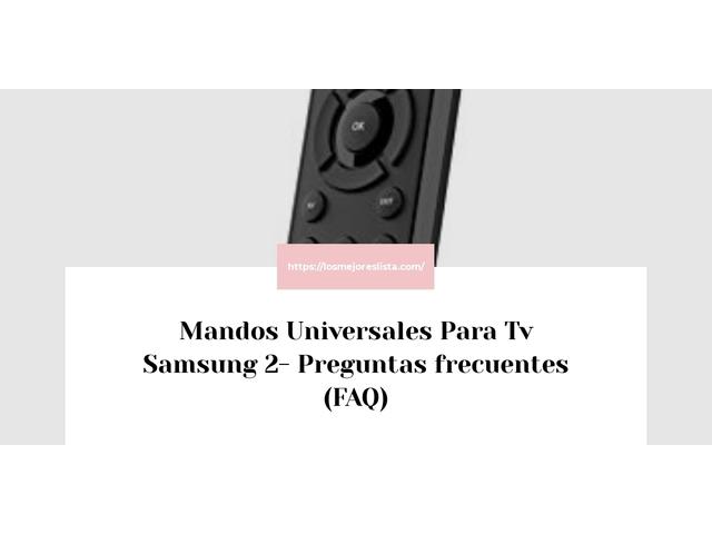 Los Mejores Mandos Universales Para Tv Samsung 2 – Guía de compra, Opiniones y Comparativa del 2021 (España)