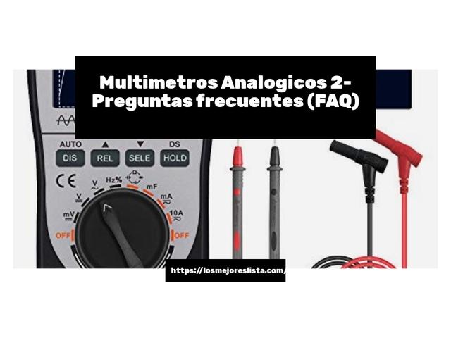 Los Mejores Multimetros Analogicos 2 – Guía de compra, Opiniones y Comparativa del 2021 (España)