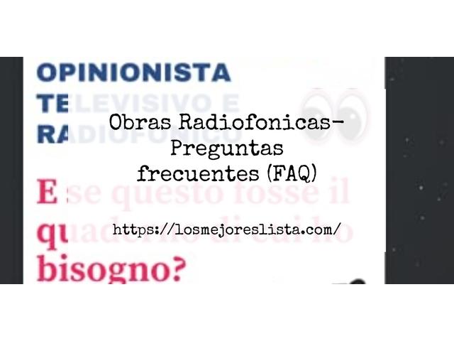 Los Mejores Obras Radiofonicas – Guía de compra, Opiniones y Comparativa del 2021 (España)